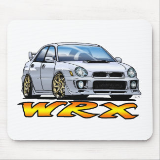 Subaru WRX_white Mouse Pad