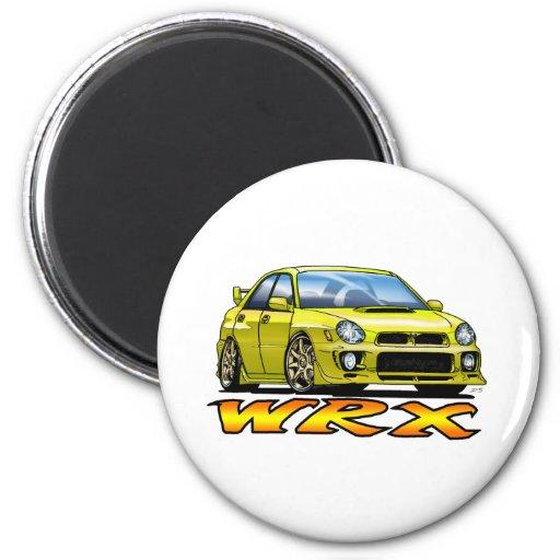 Subaru WRX_yellow Imán Redondo 5 Cm