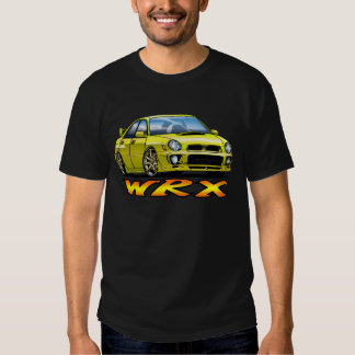 Subaru WRX_yellow Playeras