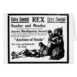 """Subasta de la tarjeta 1919 del anuncio de la pelí"
