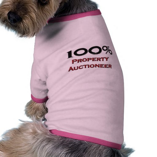 Subastador de la propiedad del 100 por ciento camiseta con mangas para perro