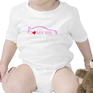 Subbie Love - I love my STI  Pink Baby Creeper