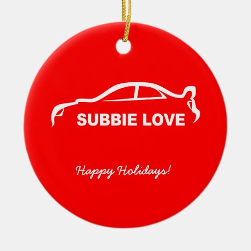 Subbie Love White Silhouette Logo Ornament