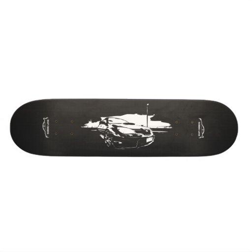 Subbie with Faux  Carbon Fiber Skateboard Deck
