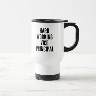 Subdirector de trabajo duro taza de café