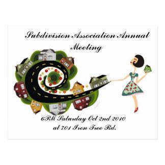 Subdivision Association Annual Meeting Postcard