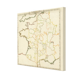 Subdivision of France Canvas Prints