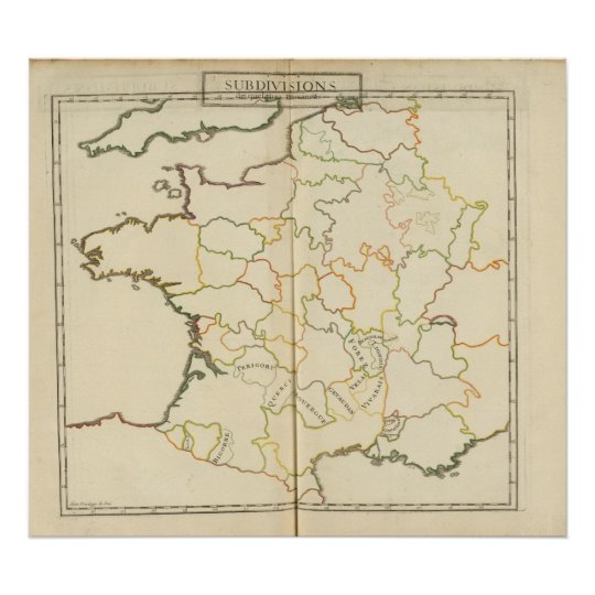 Subdivision of France Poster