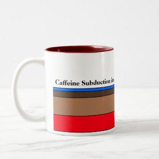 Subducción del cafeína en curso taza de café