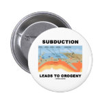 Subduction Leads To Orogeny (Geology Humor) Pinback Button