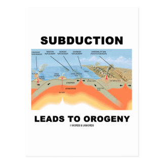 Subduction Leads To Orogeny Geology Humor Post Cards