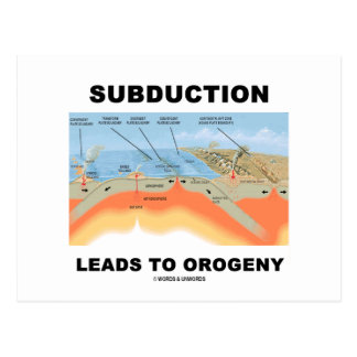 Subduction Leads To Orogeny Geology Humor Postcards
