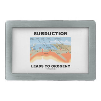 Subduction Leads To Orogeny (Mountain Building) Belt Buckle