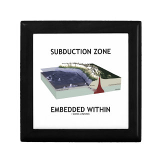 Subduction Zone Embedded Within (Geology Humor) Jewelry Box