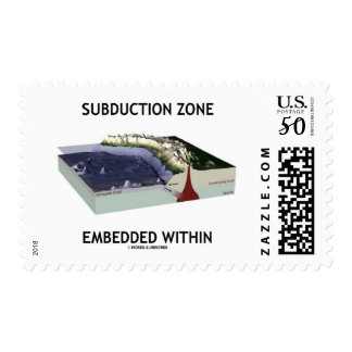 Subduction Zone Embedded Within (Geology Humor) Postage