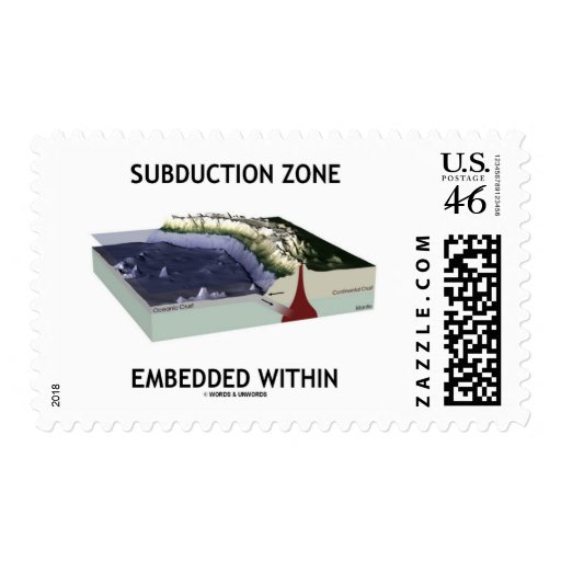 Subduction Zone Embedded Within (Geology Humor) Stamps