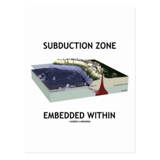 Subduction Zone Embedded Within (Geology Humor) Postcard