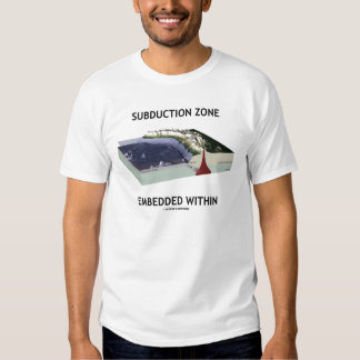 Subduction Zone Embedded Within (Geology Humor) T Shirt