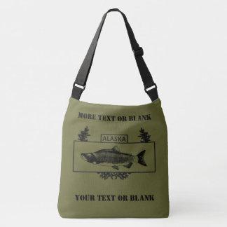 Subdued Alaska Combat Fisherman Badge Crossbody Bag