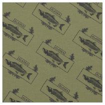Subdued Alaska Combat Fisherman Badge Fabric