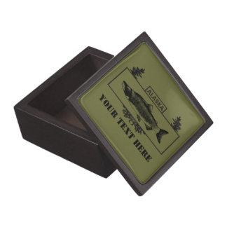 Subdued Alaska Combat Fisherman Badge Keepsake Box