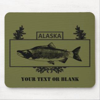Subdued Alaska Combat Fisherman Badge Mouse Pad