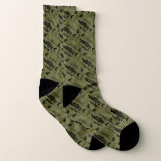 Subdued Alaska Combat Fisherman Badge Socks