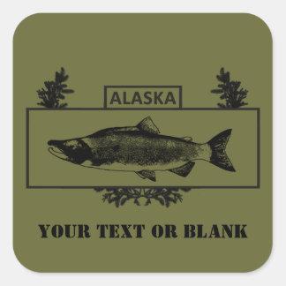 Subdued Alaska Combat Fisherman Badge Square Sticker