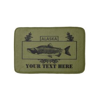 Subdued Alaska Combat Fisherman Badge Bath Mats