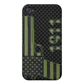 Subdued American Flag 1911 iPhone 4 Case