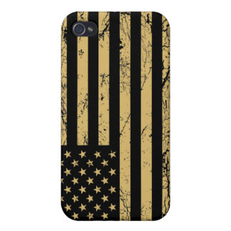 Subdued American Flag Cover For iPhone 4