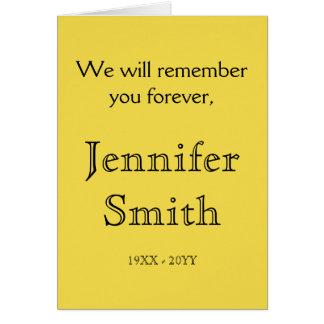 Subdued, Basic Funeral/Memorial Card