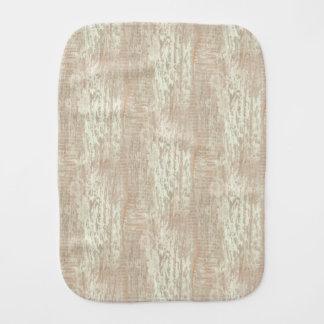 Subdued Coastal Pine Wood Grain Look Baby Burp Cloth