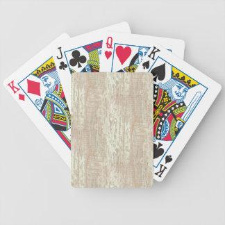 Subdued Coastal Pine Wood Grain Look Bicycle Playing Cards