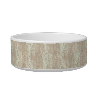 Subdued Coastal Pine Wood Grain Look Bowl