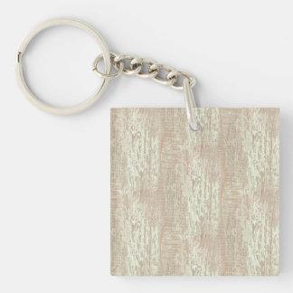 Subdued Coastal Pine Wood Grain Look Double-Sided Square Acrylic Keychain