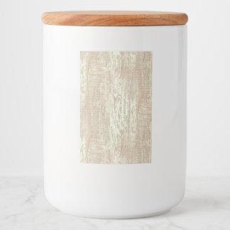 Subdued Coastal Pine Wood Grain Look Food Label