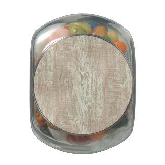 Subdued Coastal Pine Wood Grain Look Glass Jar