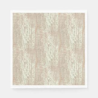 Subdued Coastal Pine Wood Grain Look Paper Napkin
