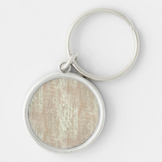 Subdued Coastal Pine Wood Grain Look Silver-Colored Round Keychain