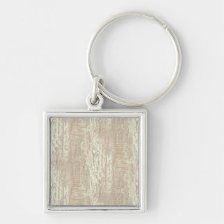 Subdued Coastal Pine Wood Grain Look Silver-Colored Square Keychain