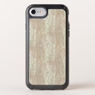 Subdued Coastal Pine Wood Grain Look Speck iPhone Case