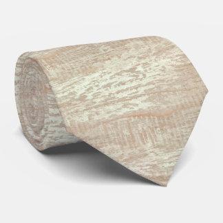 Subdued Coastal Pine Wood Grain Look Tie