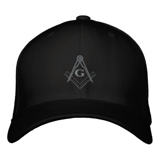 Subdued Embroidered Square and Compass Ballcap Embroidered Baseball Hat