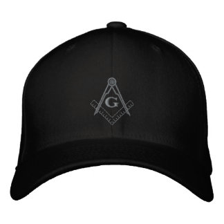 Subdued Embroidered Square and Compass Ballcap Embroidered Hat