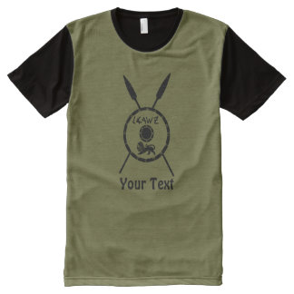Subdued Maccabee Shield And Spears All-Over-Print T-Shirt