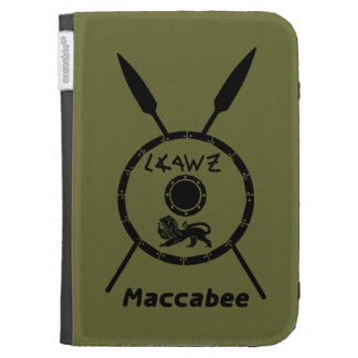 Subdued Maccabee Shield And Spears Case For The Kindle