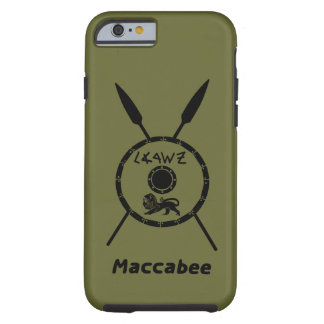 Subdued Maccabee Shield And Spears Tough iPhone 6 Case