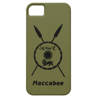 Subdued Maccabee Shield And Spears iPhone 5 Cases
