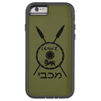 Subdued Maccabee Shield And Spears Tough Xtreme iPhone 6 Case